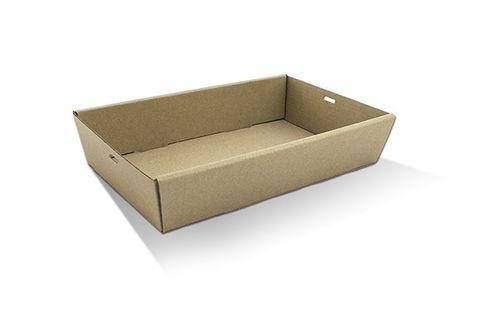 Medium Brown Cardboard Catering Boxes 359mm(L) x 252mm(W) x 80mm(H) - PACK=10 / BOX=100
