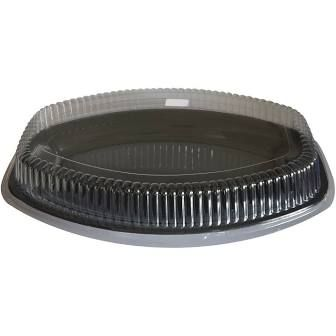 """Clear Plastic Oval Dome Lids For 20"""" / 500mm Oval Platter - EACH=1 / BOX=40"""