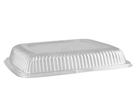 """Clear Plastic Square Dome Lids For 12"""" / 300mm Platter - EACH=1 / BOX=40"""