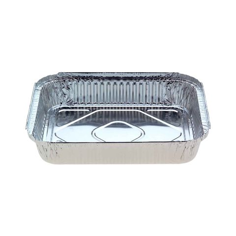 Large Rectangular Catering Foil Tray 3,000ml 314mm(L) x 254mm(W) x 50mm(H) (7231) - Box of 100