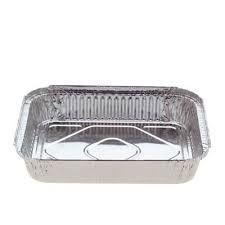 Medium Rectangular Foil Tray 990ml 195mm(L) x 143mm(W) x 48mm(H) (7419E) - PACKET=125 / BOX=500
