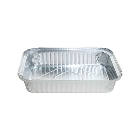 Large Rectangular Foil Tray 1,100ml 220mm(L) x 154mm(W) x 46mm(H) (7421) - Box of 500