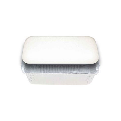 Large Rectangular White Lids for 7421 Foil Container - Packet of 500