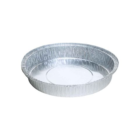 Large Cheesecake Foil Pan (Hole in Base) 1,550ml 254mm Diameter 38mm(H) (5226) - Box of 300