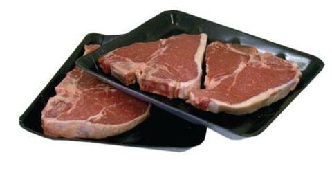 Black Foam Deep Butchers Tray 285mm(L) x 140mm(W) x 30mm(H) (T115) - PACKET=125 / BOX=500