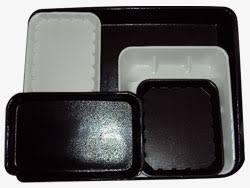 White Foam Shallow Butchers Tray 125mm(L) x 125mm(W) x 12mm(H) (T55AWH) - Box of 500