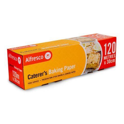Premium Baking Paper Roll Small 30cm(W) x 120m(L) In Dispenser Box - Each