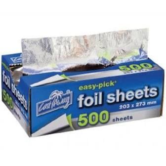 Foil Cut Sheets for Tacos 228mm(L) x 273mm(W) (AL28) - EACH=1 / BOX=4