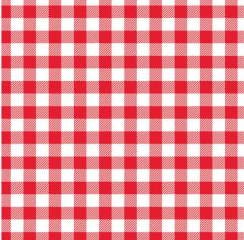 Premium Printed Red/White Check Greaseproof Paper 2 Cut 330mm(W) x 440mm(L) - Packet of 800