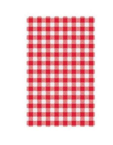 Premium Printed Red/White Check Greaseproof Paper 4 Cut 330mm(W) x 220mm(L) - Packet of 1600