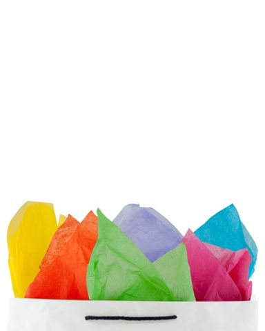 Premium 17gsm Rainbow Coloured Tissue Paper 500mm(W) x 750mm(L) - Packet of 480