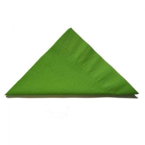 Lime Green 2 Ply Dinner Serviettes 1/4 Fold 400mm x 400mm - Box of 1,000