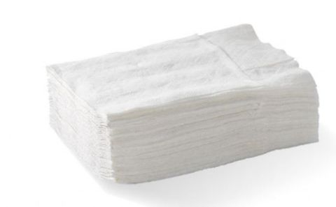 White 1 Ply Dispenser Napkins D Fold 220mm x 240mm - Box of 5,000