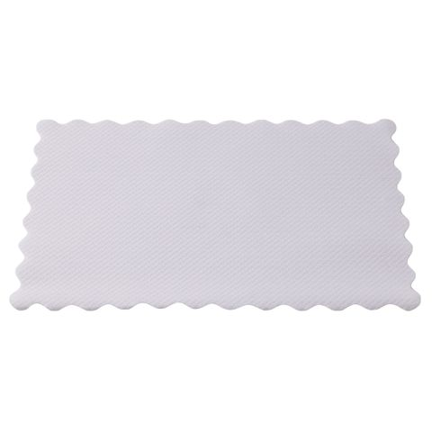 White Placemats with Scalloped Edge 335mm(L) x 240mm(W) - PACKET=500 / BOX=2,000