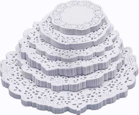 White Round Paper Doyle 240mm Diameter - PACK=250 / BOX=2,000