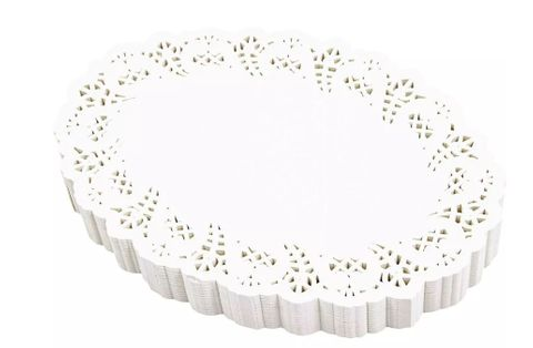 White Oval Paper Doyle 250mm x 350mm  - PACK=250 /. BOX=1,000