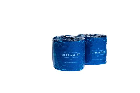 Premium Recycled 2 Ply Toilet Paper Roll 400 Sheets Individually Wrapped - Box of 48