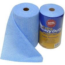 Blue Premium Heavy Duty Cleaning Wipes 80 Sheets Per Roll 300mm x 500mm - Each