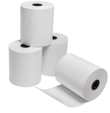 Cash Register Roll White Bond Plain Paper 57mm x 57mm - Box of 50