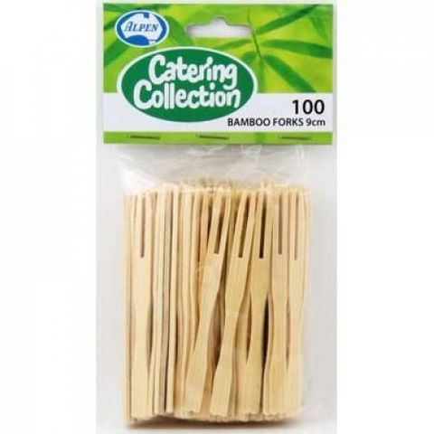 Bamboo Cocktail Fork 9cm - PACK=100 / BOX=1,000