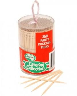 Wooden Party Cocktail Tooth Picks - PACK=350 / BOX=4,200