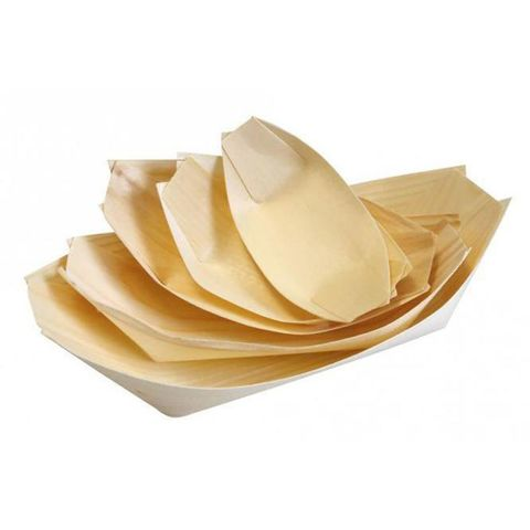 Wooden Boat 9cm x 5.7cm - PACK=50 / BOX=40