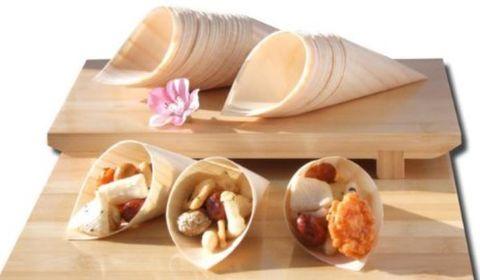 Wooden Cone 6cm x 17cm - PACK=50 / BOX=250