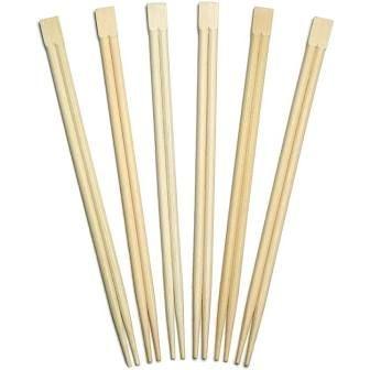 Wooden Chopsticks in Paper Sleeve  - PACK=100 / BOX=3,000