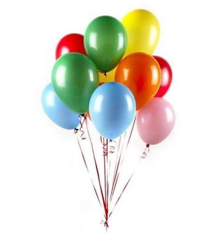 "Floating Plain Balloons With Helium No Hi-Float 11"""