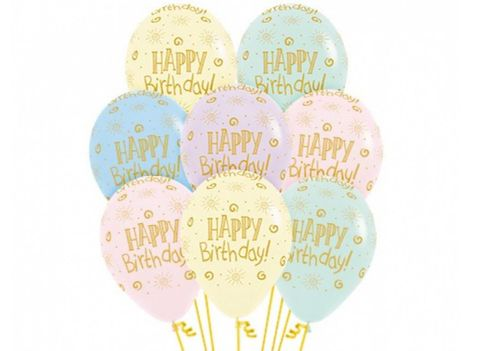 """Floating Printed Balloons With Helium No Hi-Float 11"""""""