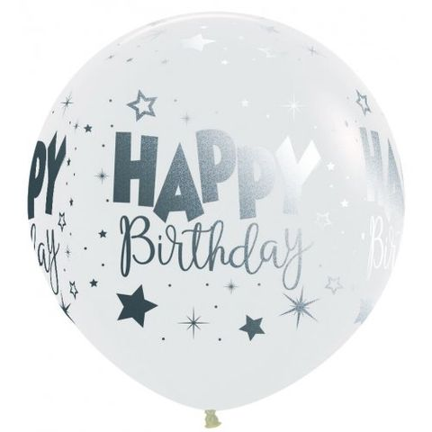 2ft Latex Balloon Printed Inflated - Each