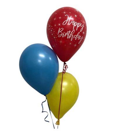 "Balloon Display: 1 x Printed + 2 x Plain 11"" Balloons"