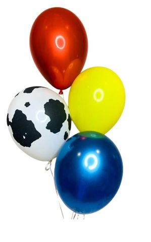 "Balloon Display: 1 x Printed + 3 x Plain 11"" Balloons"