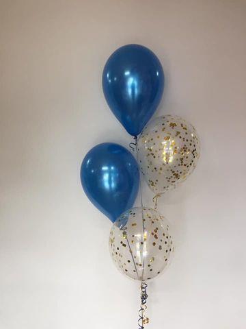 "Balloon Display: 2 x Printed + 2 x Plain 11"" Balloons"
