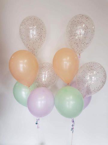 "Balloon Display: 2 x Printed + 3 x Plain 11"" Balloons"