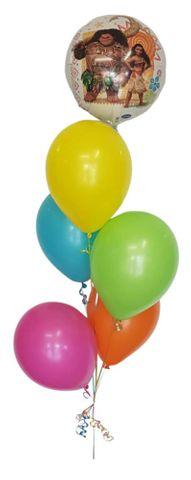 "Balloon Display: 1 x 18"" Foil + 5 x Plain 11"" Balloons"