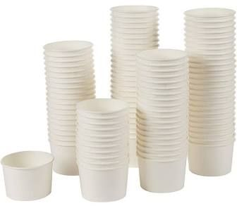 White 6oz Food Container / Dixie Ice-Cream Cup / Paper Tub - BOX=1,000 / SLEEVE=50