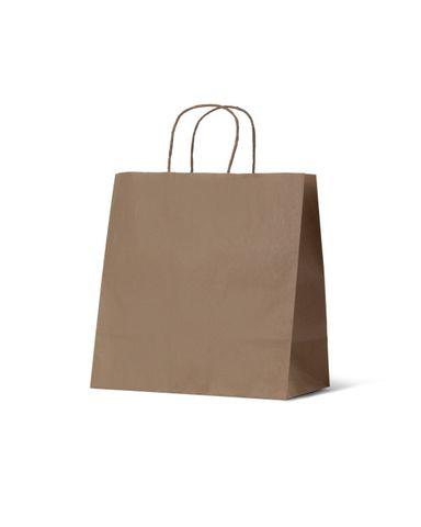 Medium Brown Take Away Paper Bags Uber Style 305mm(L) x 305mm(H) x 170mm(G) - Box of 250