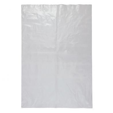 "Heavy Duty Clear Plastic LDPE Bag 50 Micron 20"" x 14"" / 510mm x 355mm - PACKET=100 / BOX=1,000"