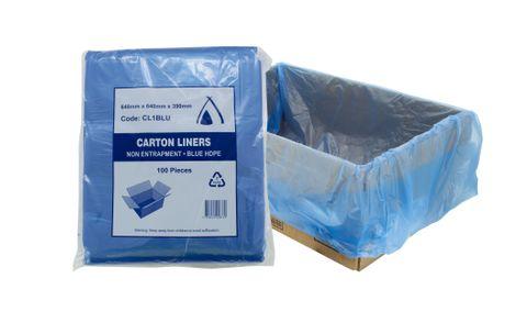 Heavy Duty Plastic Box Liners Blue - ADD SIZE - Box of 200