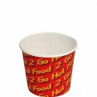 Hot Chip Cups Printed Paper Cups 8oz / 240ml - SLEEVE=50 / BOX=1,000