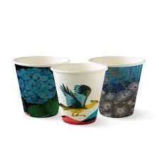 BioPak 8oz / 240ml Single Wall Art Series Coffee Cups 80mm Diameter - Box of 1,000