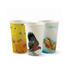 BioPak 16oz / 480ml Single Wall Art Series Coffee Cups 90mm Diameter - Box of 1,000