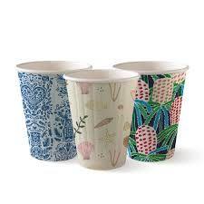 BioPak 8oz / 240ml Double Wall Art Series Coffee Cups 90mm Diameter - Box of 1,000