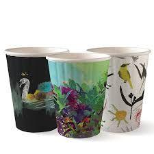 BioPak 12oz / 360ml Double Wall Art Series Coffee Cups 90mm Diameter - SLEEVE=40 / BOX=1,000
