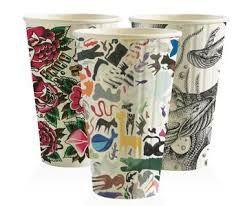 BioPak 16oz / 480ml Double Wall Art Series Coffee Cups 90mm Diameter - SLEEVE=40 / BOX=600