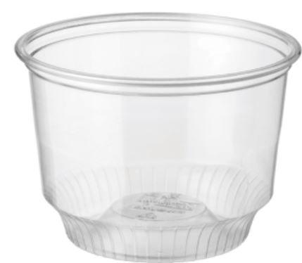 Castaway Plastic Clear Sundae Cup 8oz / 240ml - Box of 1,000