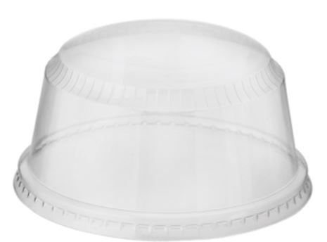 Castaway Plastic Clear Sundae Cup Dome Lid to suit 8oz and 12oz Sundae Cups - Box of 1,000