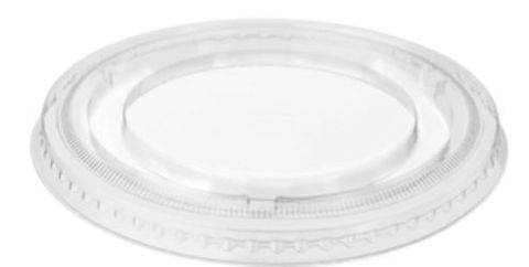Castaway Plastic Clear Sundae Cup Flat Lid to suit 8oz and 12oz Sundae Cups - Box of 1,000