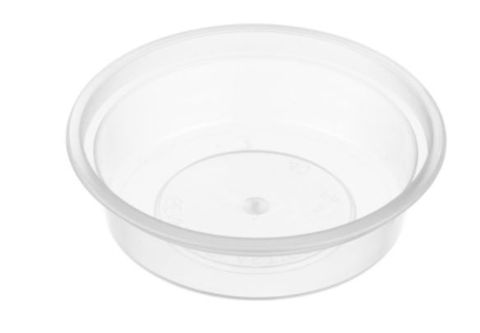 Small Round Clear Plastic 40ml Sauce Container 80mm Diameter - SLEEVE=50 / BOX=1,000